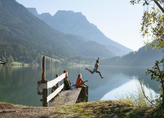 Badesee in Tirol Schwimmen