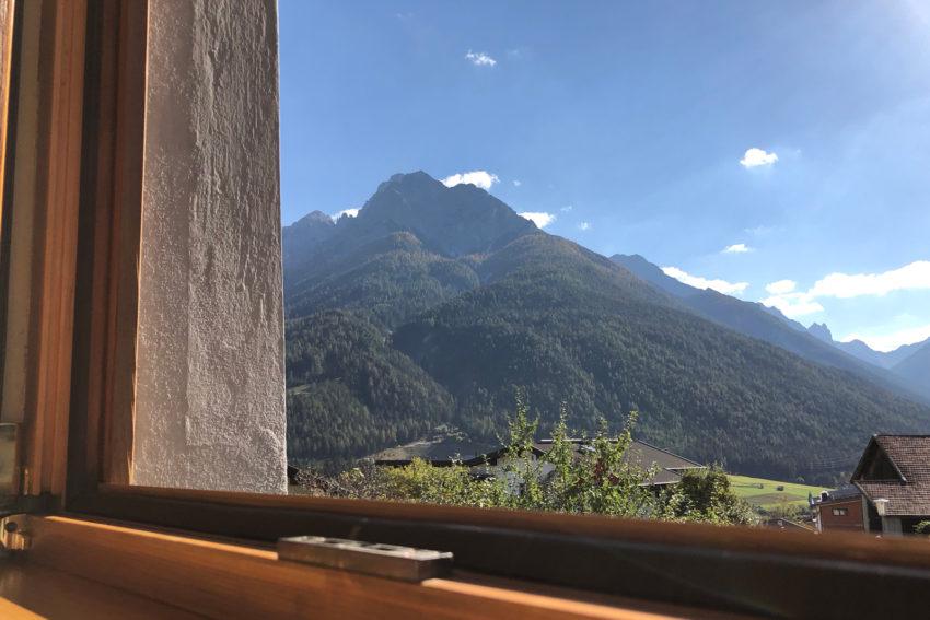 Appartement Pircher-Maes in Telfes im Stubaital - Blick aus dem Fenster im Appartement Bergblick