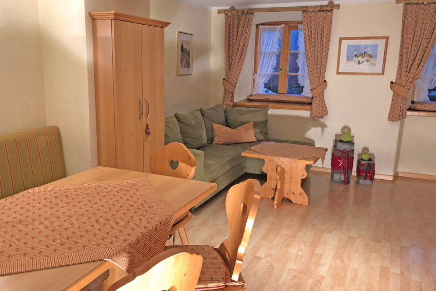 Appartement Pircher-Maes in Telfes im Stubaital - Wohnraum Appartement Bergblick mit Sofa