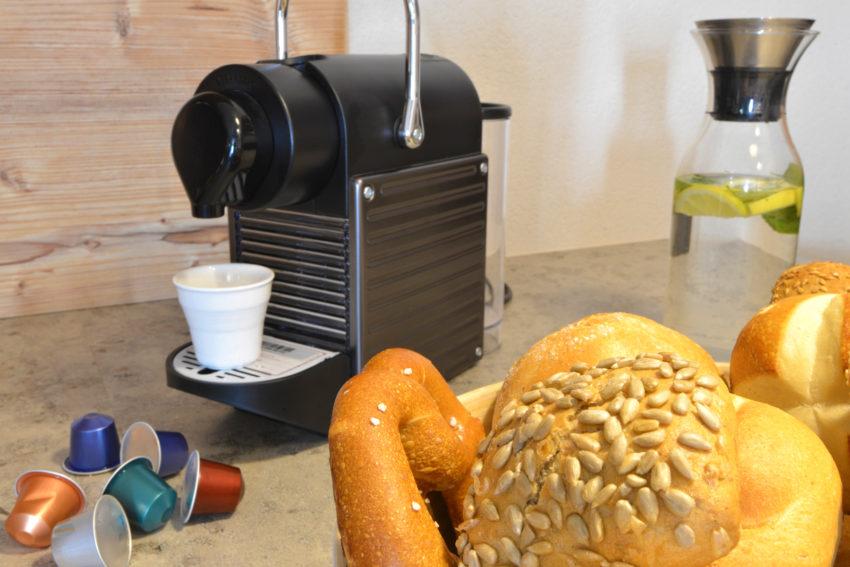 Appartement Pircher-Maes im Tiroler Stubaital Kaffeegenuß am Frühstückstisch