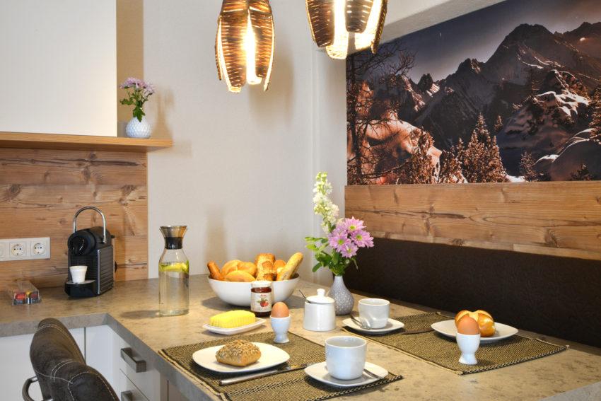 Appartement Pircher-Maes im Tiroler Stubaital Genießen Sie das Frühstück in angenehmer Atmosphäre