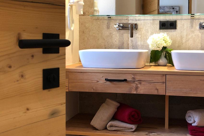 Appartement Pircher-Maes in Telfes im Stubaital - Blick ins Badezimmer